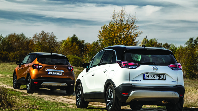 Test comparativ - Opel Crossland X vs Renault Captur