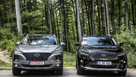 Test comparativ – Hyundai Santa Fe vs Kia Sorento