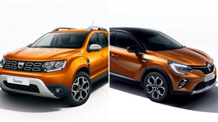 Dacia Duster și Renault Captur. Atât de diferite, dar au atâtea în comun
